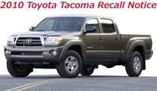 2010 Toyota Tacoma Recall